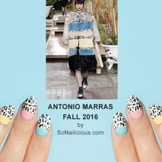 Leopard print nails, Antonio Marras Fall 2016