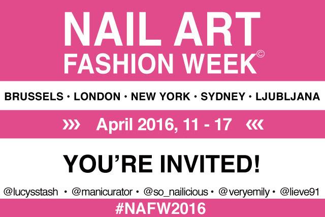 Nail Art Fashion Week 2016 invite