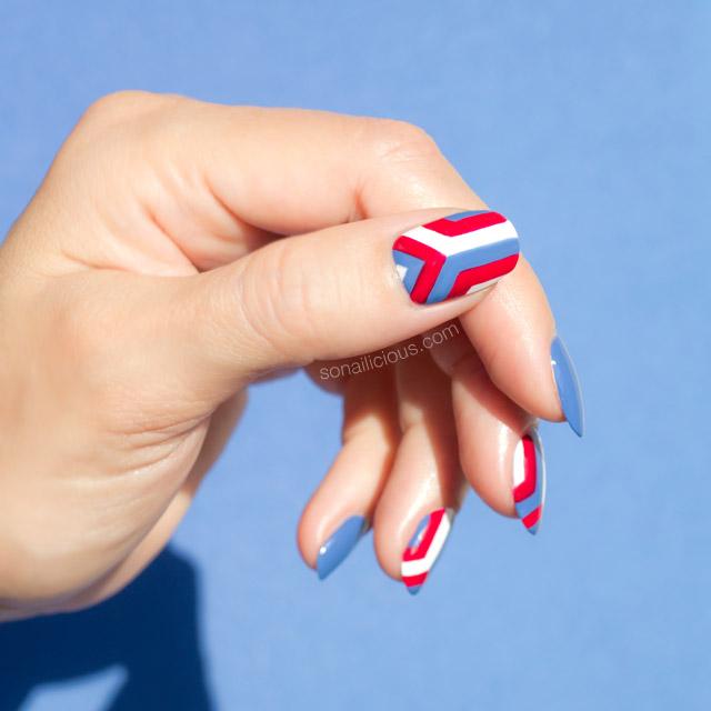 geometric nails, anya hindmarch nails