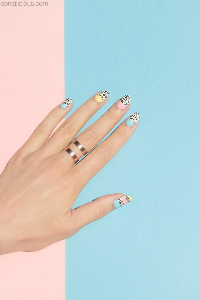 leopard nails, leopard print nail art