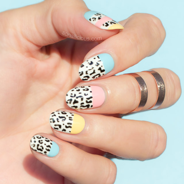 leopard print nails, leopard nails