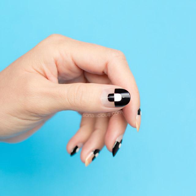 negative space nails, nail art tutorial