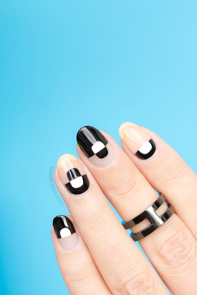 negative space nails, negative space nail art tutorial