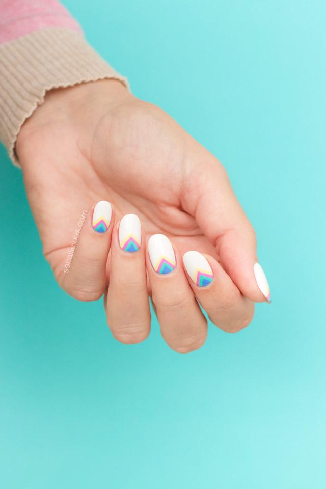 rainbow nail art, unicorn nails