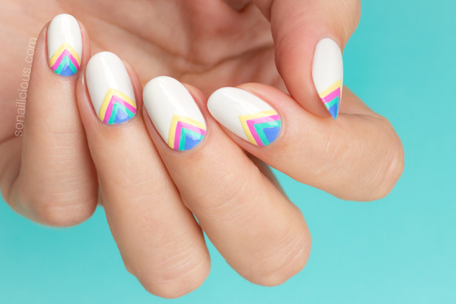 rainbow nails, rainbow nail art