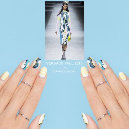 versace FALL 2016, VERSACE nails