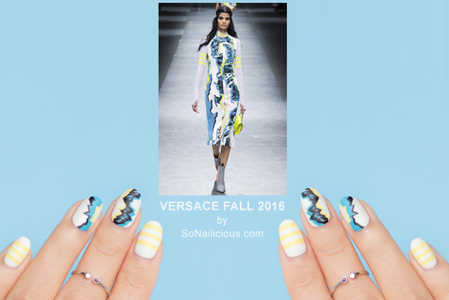 versace FALL 2016, VERSACE nails