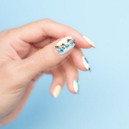 versace fall 2016, amazing nail art