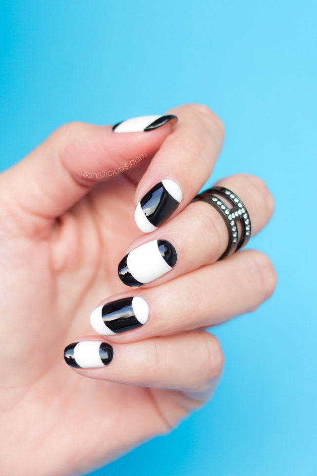 French nails, monochrome nails