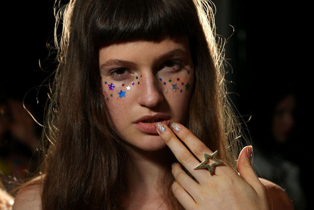 Starry nails at Emma Mulholland - Backstage - Mercedes-Benz Fashion Week Australia 2016