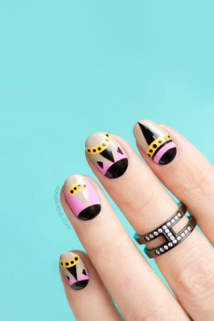 geometric nails, fendi pumps