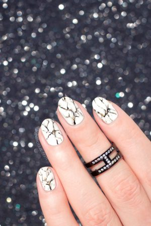 marble nail art, how to do marble nails