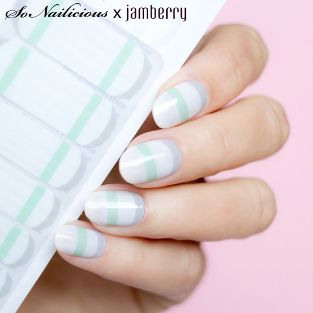 mod french twist jamberry nail wraps
