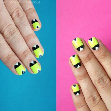 neon nails, diy neon nail art