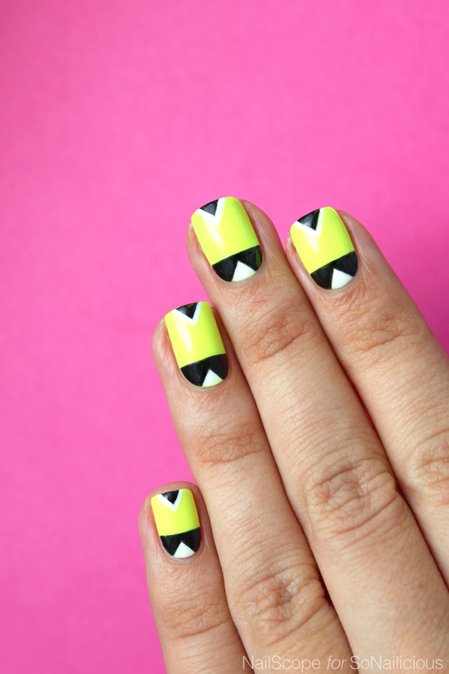 neon nails for summer, diy neon nail art