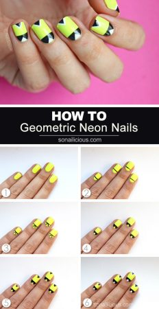 neon nails how to, neon nail art