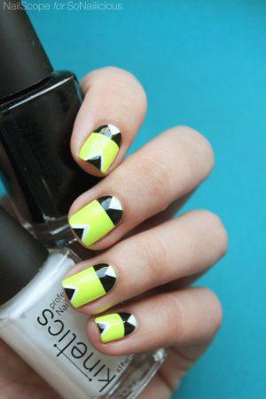 neon nails, summer nail art