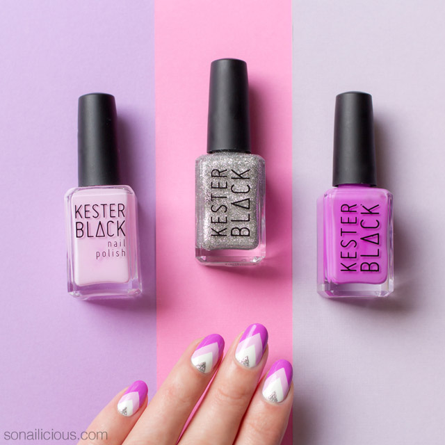 purple nails, kester black violet