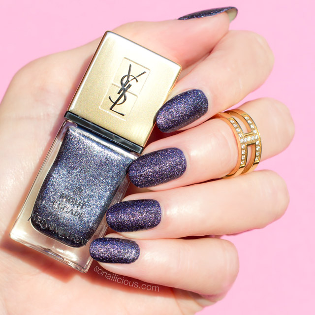 YSL night escape, ysl nail polish