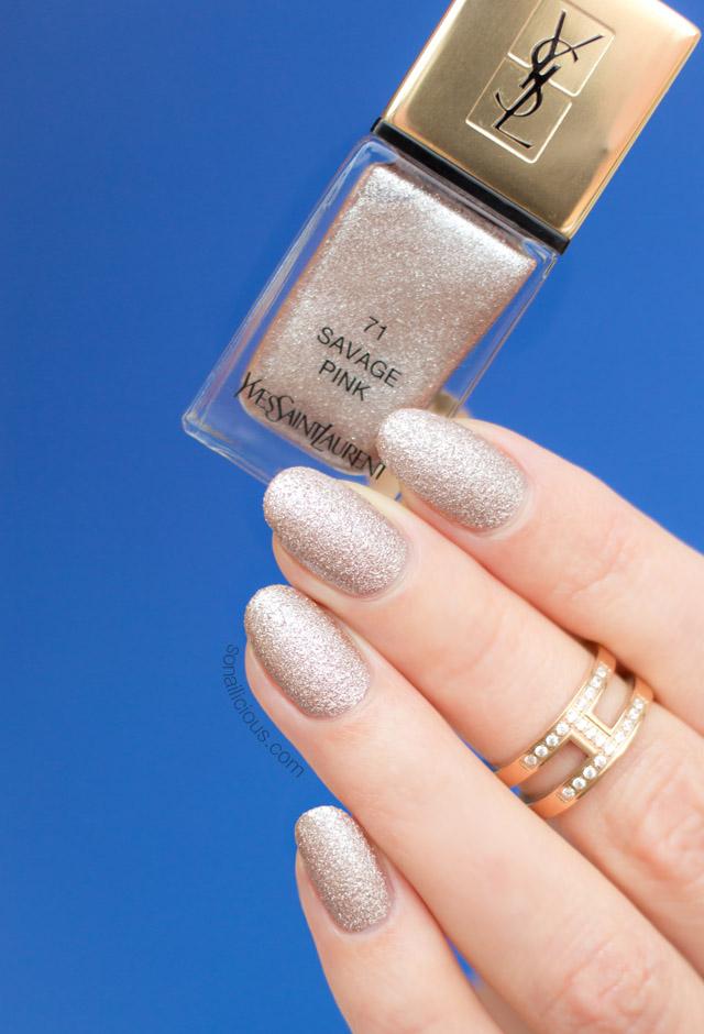 YSL savage pink, ysl nail polish