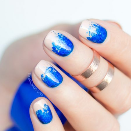 nail foil, blue foil, oil slick nails