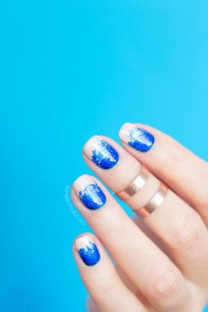 nail foil, blue foil, oil spill nails