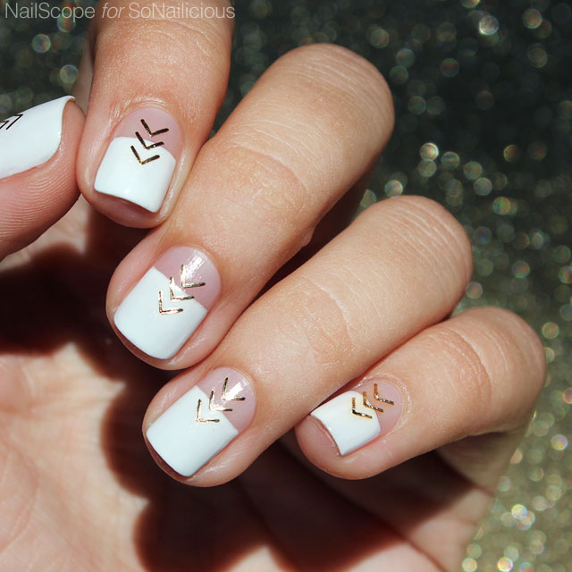 white and gold nails, festival nails