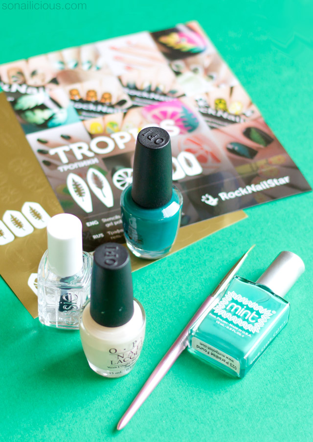 easy tropical nails