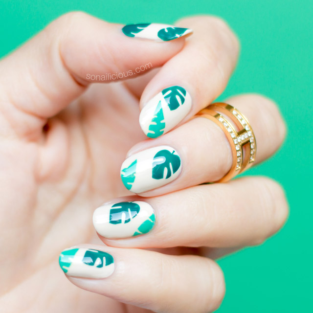 easy tropical nails, beach nails, 2