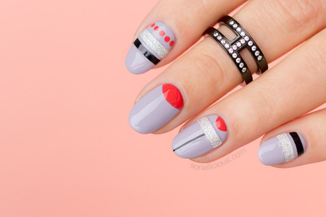 grey nail design, mavala first class
