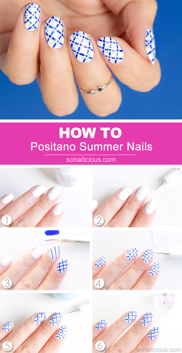 positano, summer nails how to