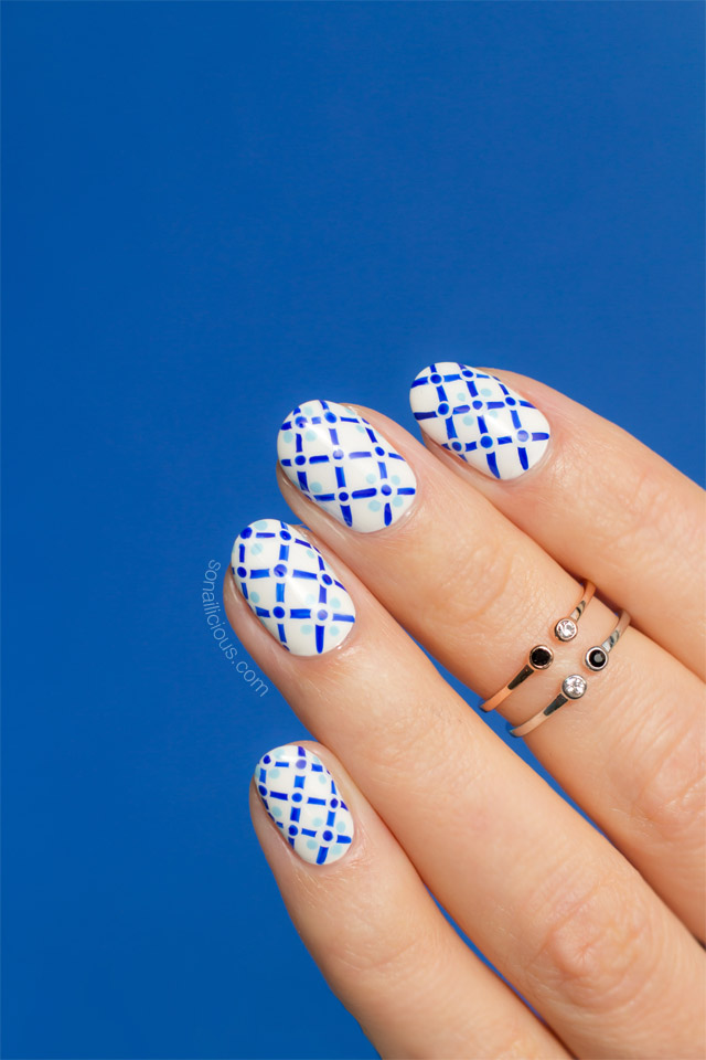 positano tiles, summer nails