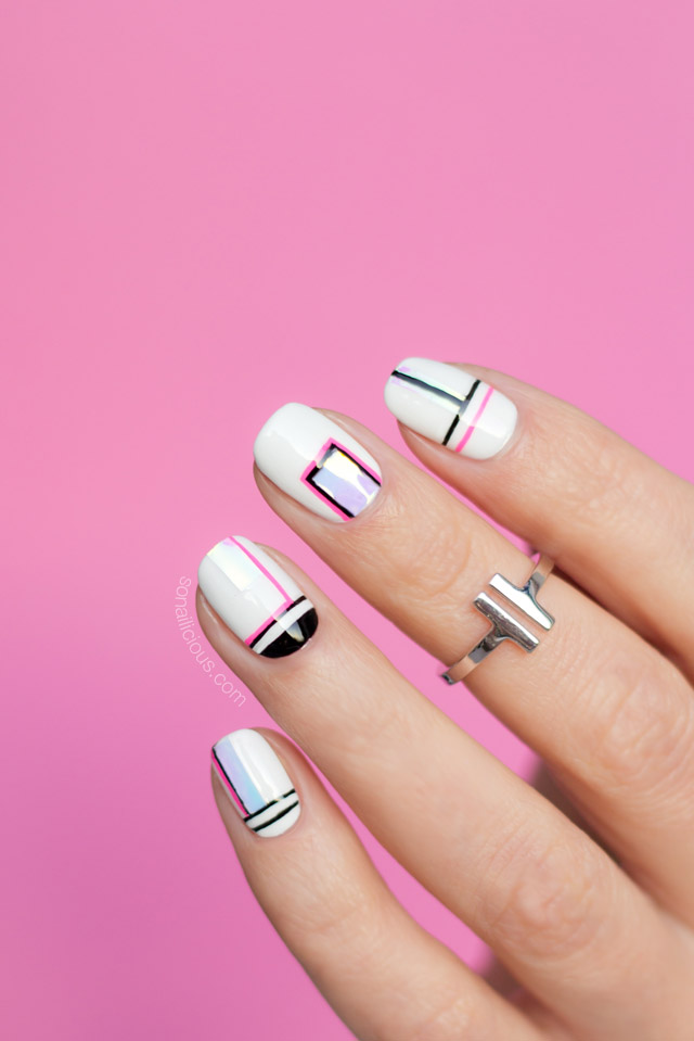 shattered glass nails, sydney nail artist