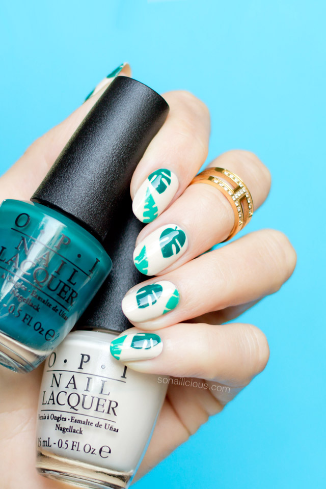 tropical nails, opi amazon amazoff 1