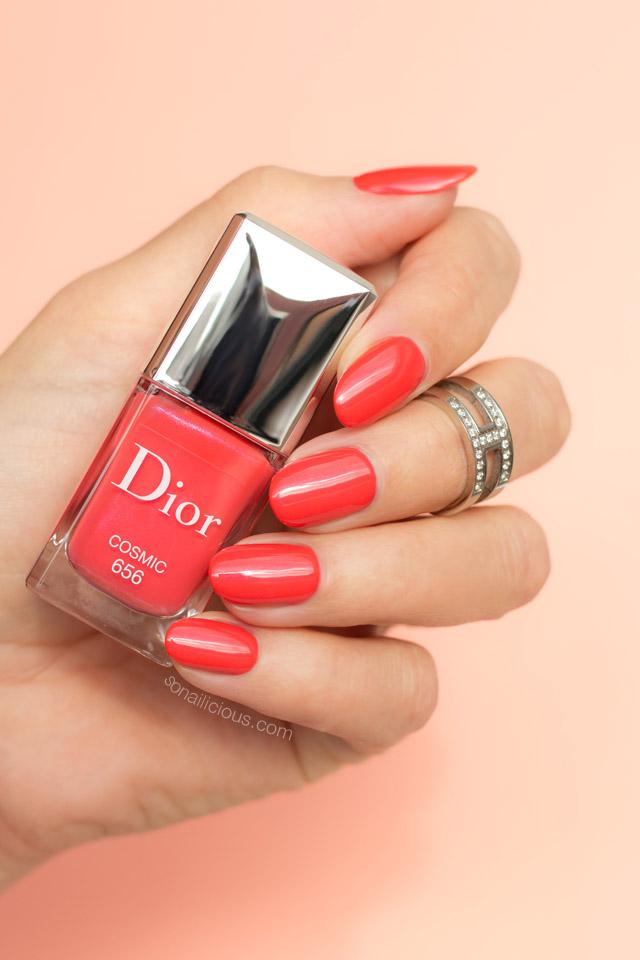dior-cosmic-swatches-coral-nail-polish