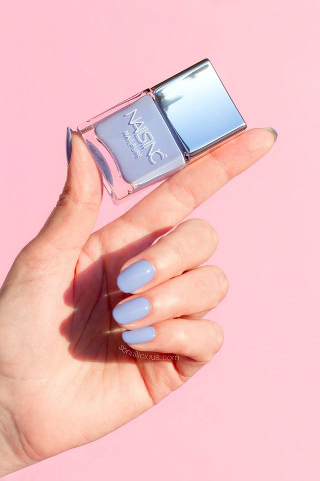 nails inc nailpure review swatches, nails inc regents place
