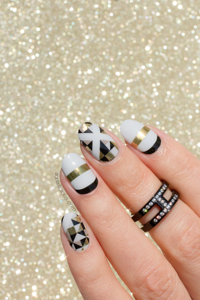 sonailicious-jamberry-nails-gold-and-black-nails-jamberry-deco-wraps