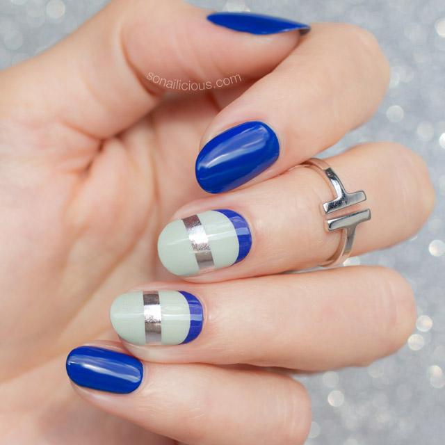 SoNailicious x Jamberry nail wraps, mint nails