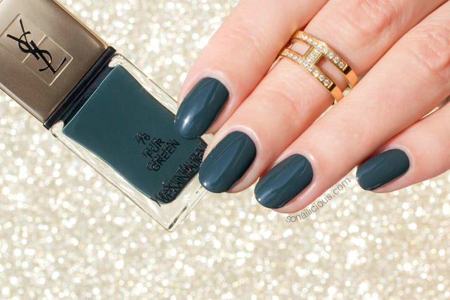 ysl fur green swatches, review