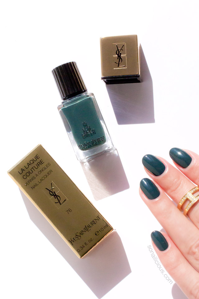 ysl fur green swatches review