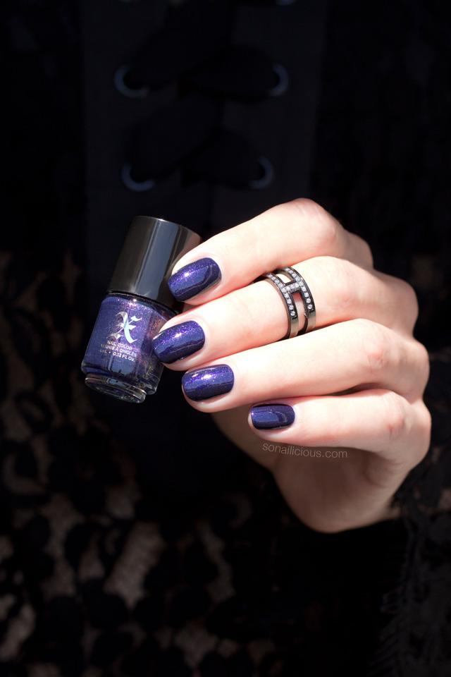 kat von d poe, purple nails