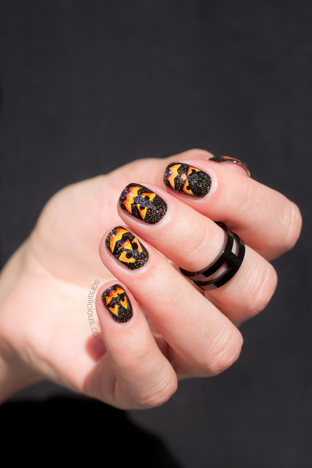 pumpkin nail art, halloween nail art