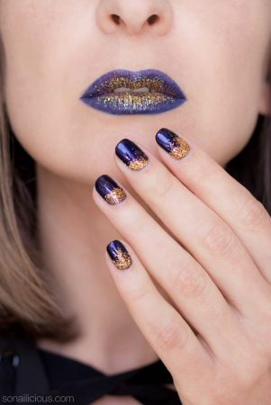 purple lips, halloween makeup