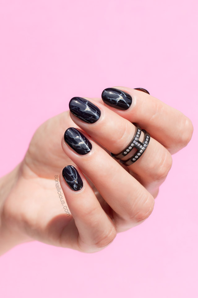 Black Marble Nails Sonailicious