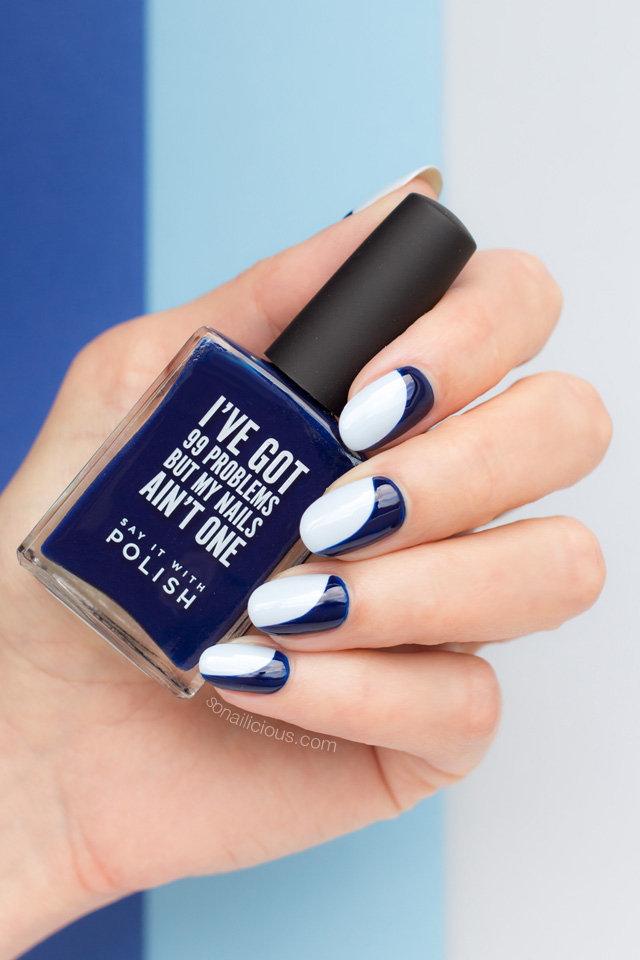 blue nails, say it with polish in the navy