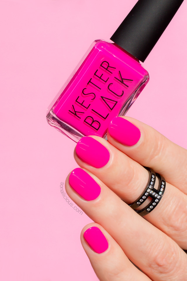 kester black barbie, neon pink nails