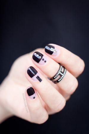 black nail design