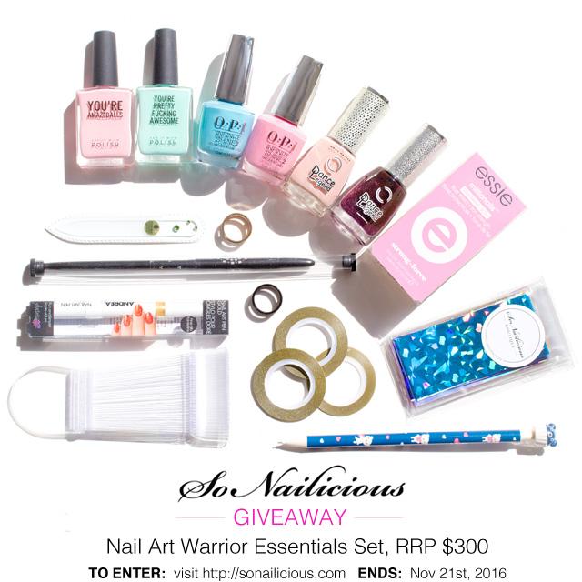 mega nail art giveaway, sonailicious 4 yo