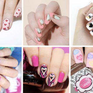12 valentines day nail designs