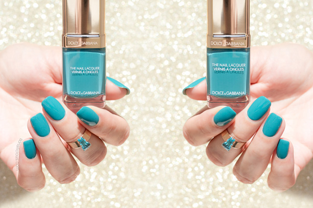 Dolce and gabbana nail polish review, dolce gabbana turquoise